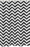Chevron Black and White Shower Curtain