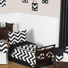 Chevron Black and White Toddler Bedding Set by Sweet Jojo Designs