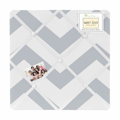 Chevron Gray and White Fabric Memo Board by Sweet Jojo Designs