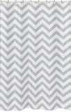 Chevron Gray and White Shower Curtain