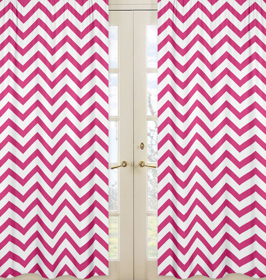 Navy And White Blackout Curtains Pink and White Chevron Border
