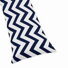 Chevron Navy and White Collection Body Pillow Cover