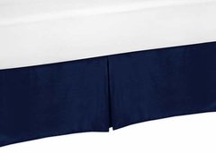 Chevron Navy and White Collection Toddler Bed Skirt
