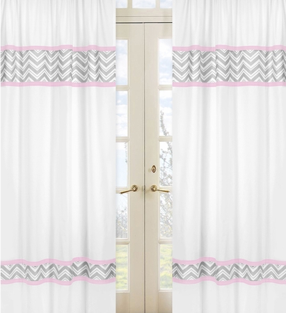 Navy And White Blackout Curtains Gold Chevron Curtains