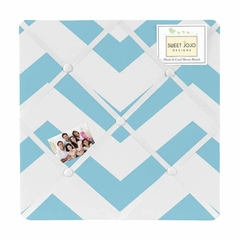 Chevron Turquoise and White Fabric Memo Board by Sweet Jojo Designs
