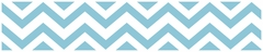 Chevron Turquoise and White Wallpaper Border by Sweet Jojo Designs