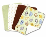 Chibi Zoo Burp Cloth Set