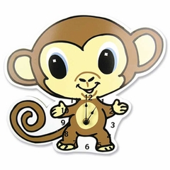 Chibi Zoo Monkey Wall Clock -Trend Lab