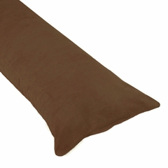 Chocolate Microsuede Body Pillow Cover