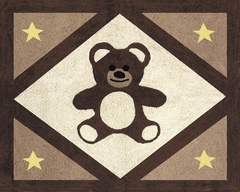 Chocolate Teddy Bear Accent Floor Rug by Sweet Jojo Designs
