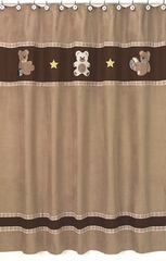 Chocolate Teddy Bear Shower Curtain by Sweet Jojo Designs