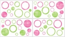 Circles Pink and Green Wall Decals by Sweet Jojo Designs