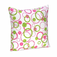Circles Pink Mod Decorative Pillow