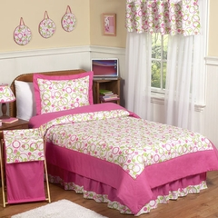 Circles Pink Mod - Kids Bedding 4 Piece Twin Set