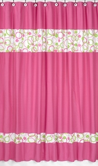 Circles Pink Mod Shower Curtain by Sweet Jojo Designs