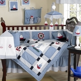 Come Sail Away Nautical Baby Bedding - 9 Piece Crib Set