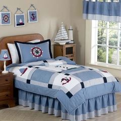 Come Sail Away Nautical - Kids Bedding 4 Piece Twin Set