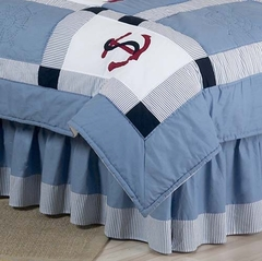 Come Sail Away Nautical Queen Bed Skirt by Sweet Jojo Designs