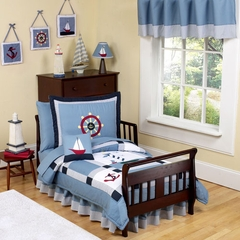 Come Sail Away Nautical Toddler Bedding Set