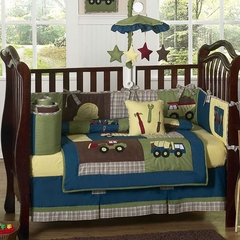 Construction Zone Baby Bedding - 9 Piece Crib Set