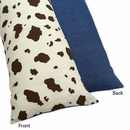 Cowgirl Collection Cow Print Body Pillow Cover