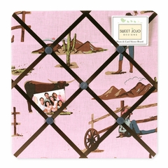 Cowgirl Collection Fabric Memo Board