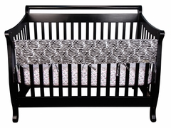 Crib Wrap Front Crib Rail Cover Teething Guard Black & White Zebra