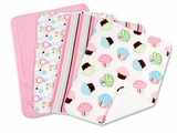 Cupcake Burp Cloth Set