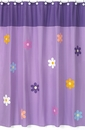 Daisies Flower Purple Bathroom Shower Curtain