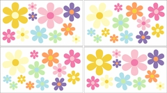 Daisies Flower Wall Decals - Set of 4 Sheets by Sweet Jojo Designs