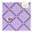 Daisy Flower Purple Fabric Memo Board