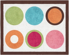 Deco Dot Modern Polka Dot Accent Floor Rug by Sweet Jojo Designs