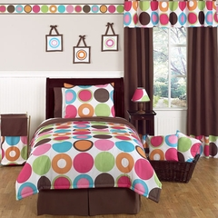 Deco Dot Modern Polka Dot - Kids Bedding 4 Piece Twin Set