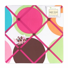 Deco Polka Dot Fabric Memo Board