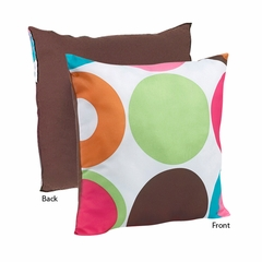 Deco Polka Dot Modern Decorative Accent Throw Pillow