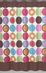 Deco Polka Dot Modern Shower Curtain by Sweet Jojo Designs
