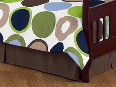 Designer Dot Collection Toddler Bed Skirt by Sweet Jojo Designs