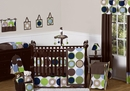 Designer Dot Large Polka Dot Baby Bedding -9 Piece Crib Set