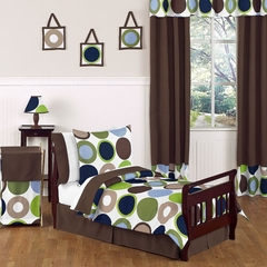 Designer Dot Large Polka Dot Bedding - Toddler Bedding 5 Pc Set