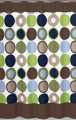 Designer Dot Large Polka Dot Shower Curtain by Sweet Jojo Designs
