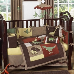 Dinosaur Land Baby Bedding - 9 Piece Crib Set