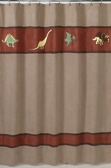 Dinosaur Land Bathroom Shower Curtain