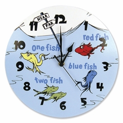 Dr. Seuss 1 Fish 2 Fish Wall Clock by Trend Lab