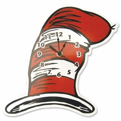 Dr. Seuss Cat in the Hat - Hat Wall Clock
