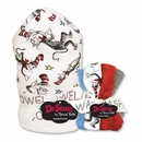 Dr. Seuss Cat in the Hat Hooded Towel & Wash Cloth Set