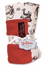 Dr. Seuss  Cat in the Hat Red Star Velour Blanket