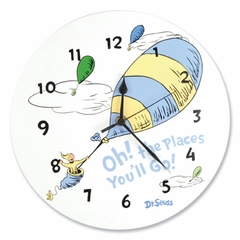 Dr. Seuss Oh! The Places You'll Go Blue Wall Clock by Trend Lab