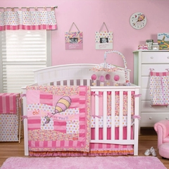 Dr. Seuss Oh! The Places You'll Go Pink 3pc Baby Girl Crib Bedding Set