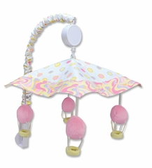 Dr. Seuss Oh! the Places You'll Go Pink Crib Mobile