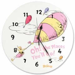 Dr. Seuss Oh! The Places You'll Go Pink Wall Clock by Trend Lab
